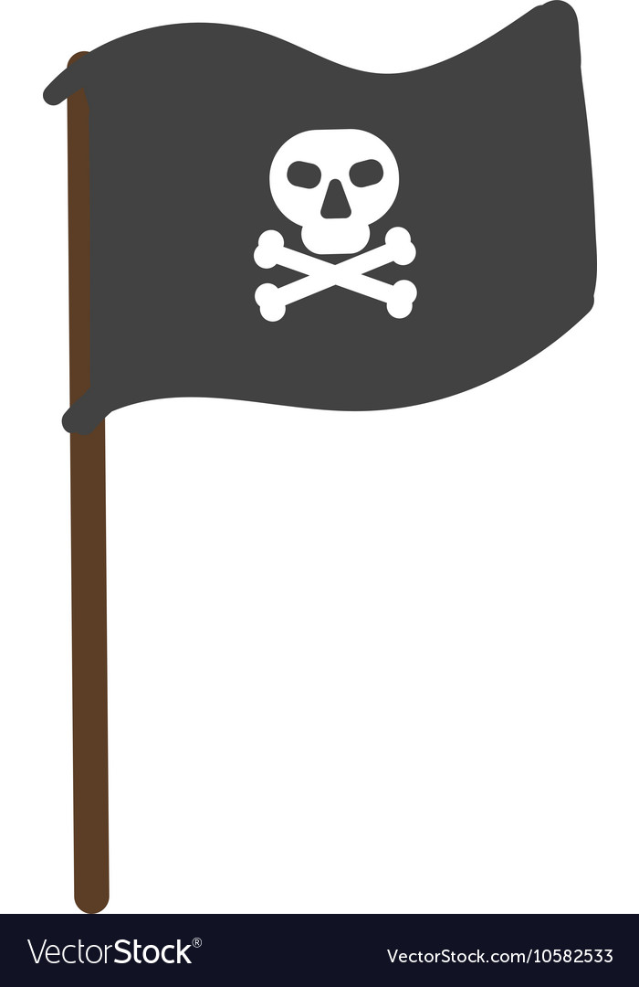 Pirate flag isolated