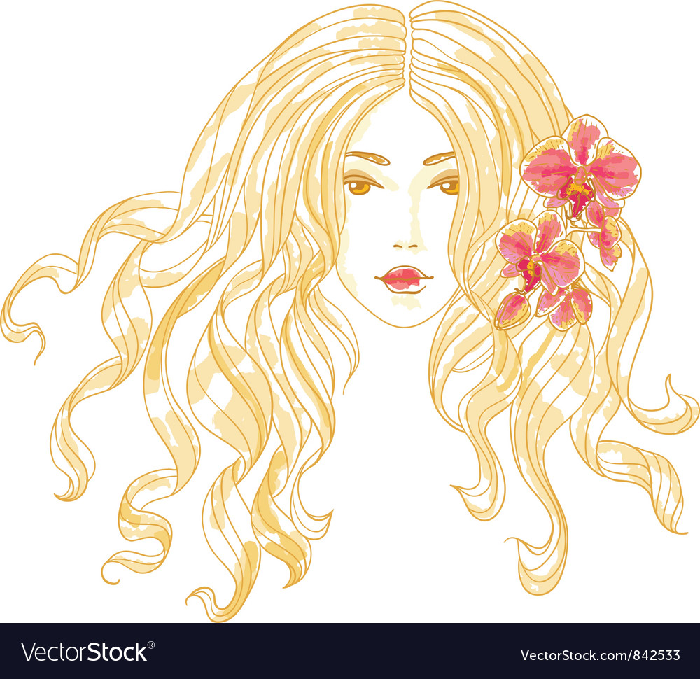 Portrait of a girl vector image
