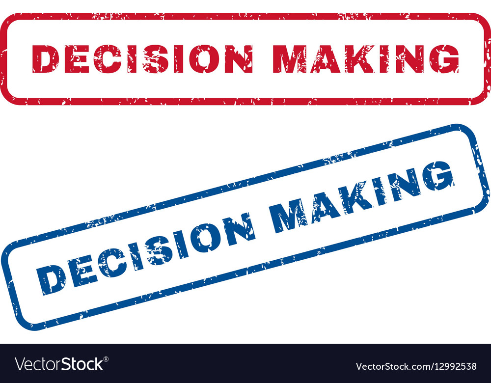 Decision Making Rubber Stamps