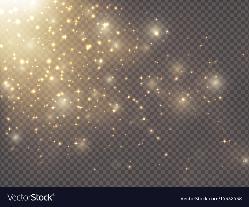 Gold glittering star dust