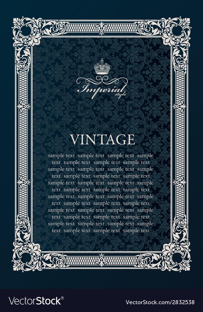 Label frame Vintage antique decor ornament