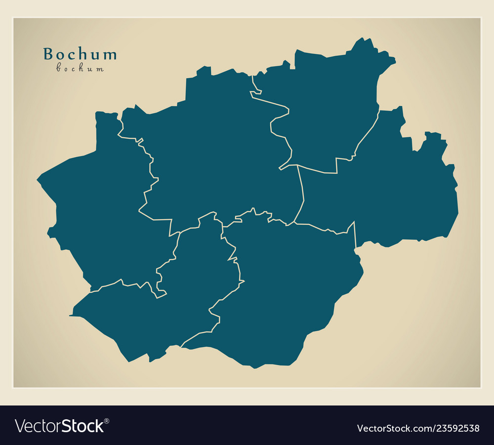 Modern City Map Bochum City Of Germany With Vector Image