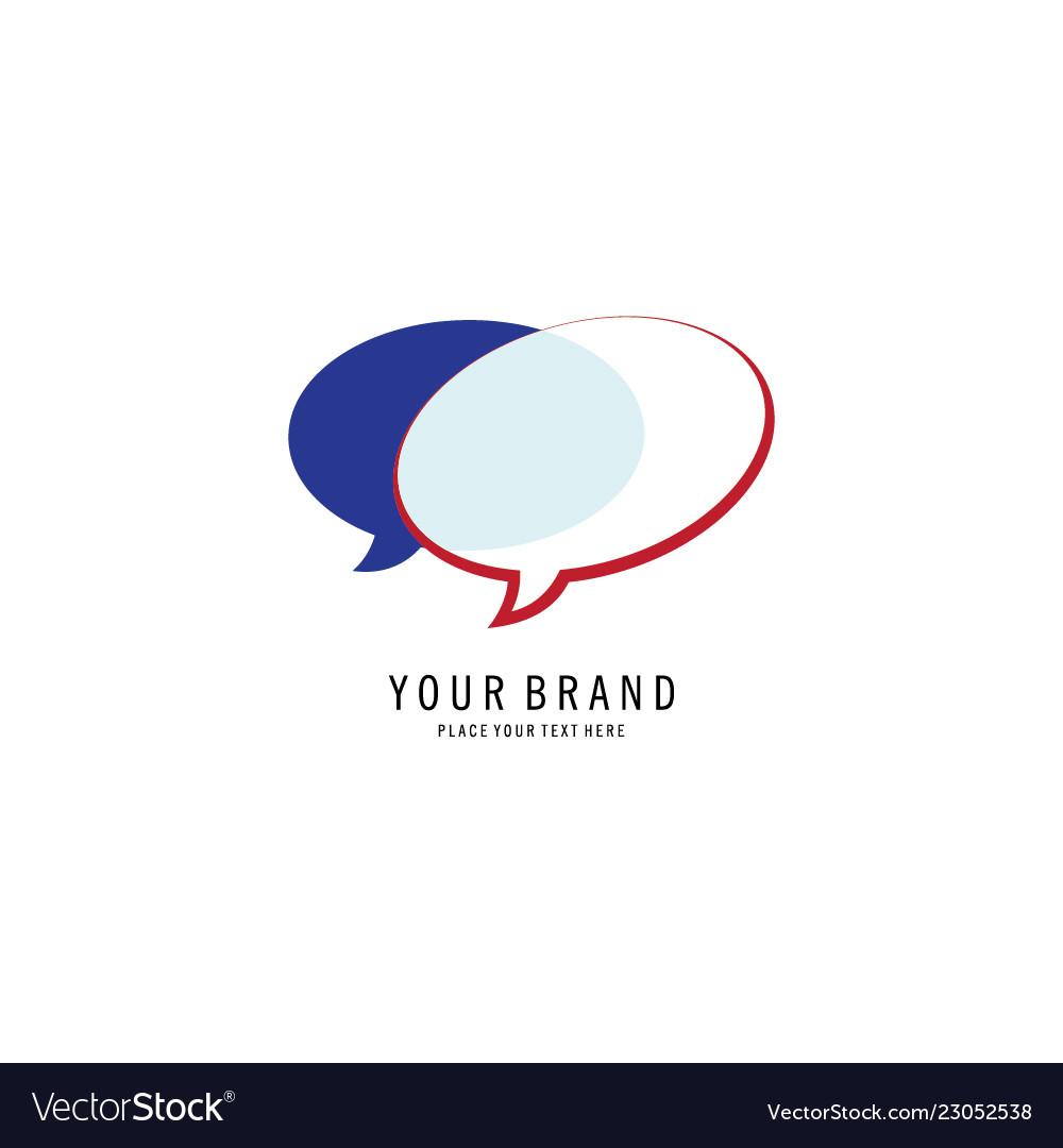 Talking icon logo