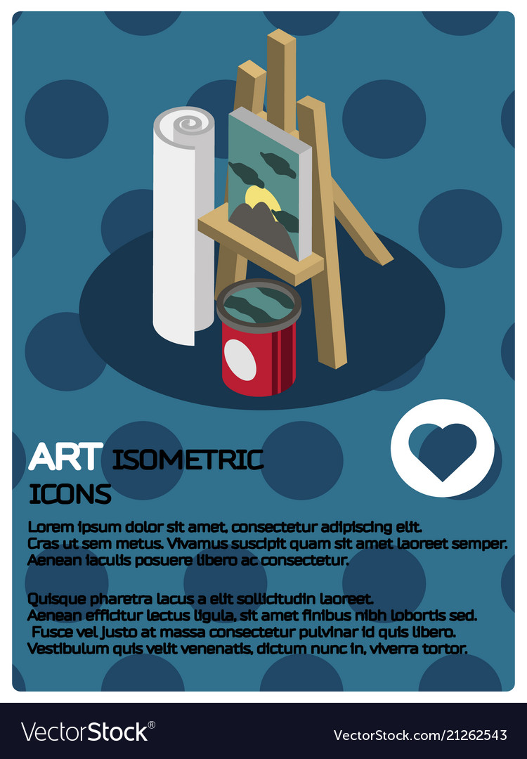 Art color isometric poster