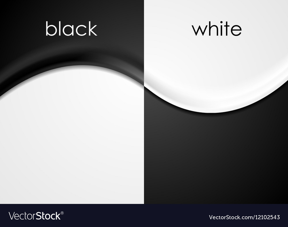 black and white wavy flyers background royalty free vector