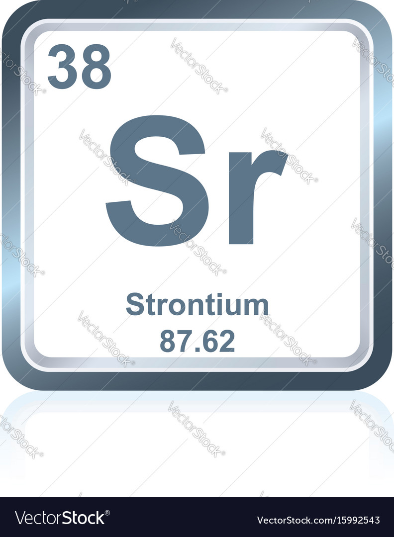Chemical Element Strontium From The Periodic Table