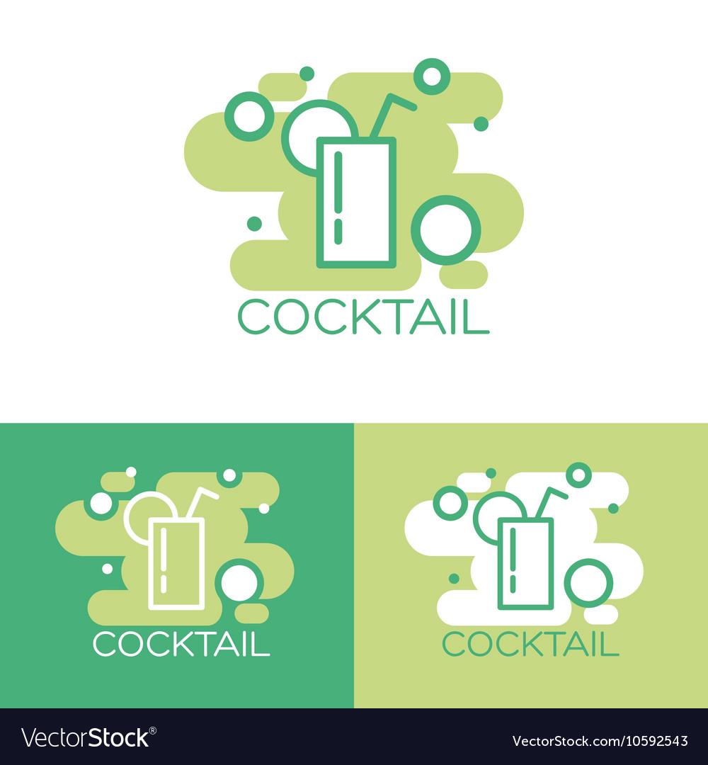 Cocktail logo concept design