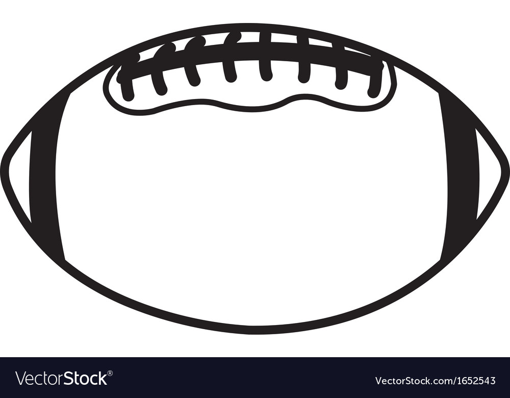 football ball royalty free vector image vectorstock rh vectorstock com vector football designs vector football player