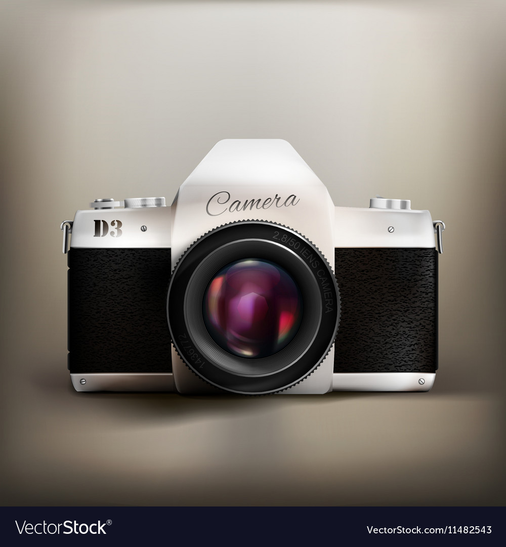 Old School Camera vector image