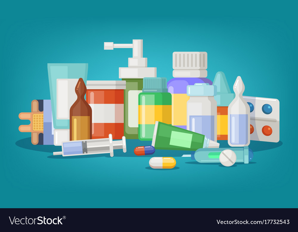 Pharmaceutical of medical vector image