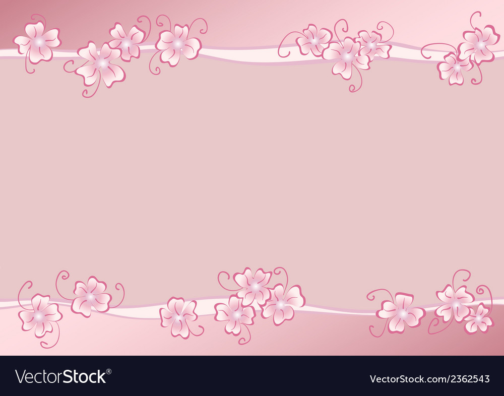 Pink flowers copy vector image