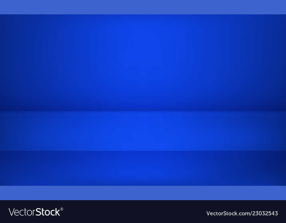 Studio blue background or product table showroom