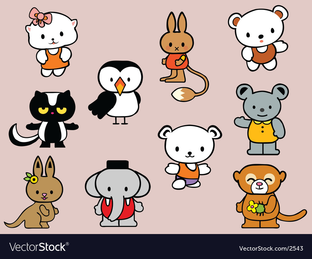Toy collection vector image