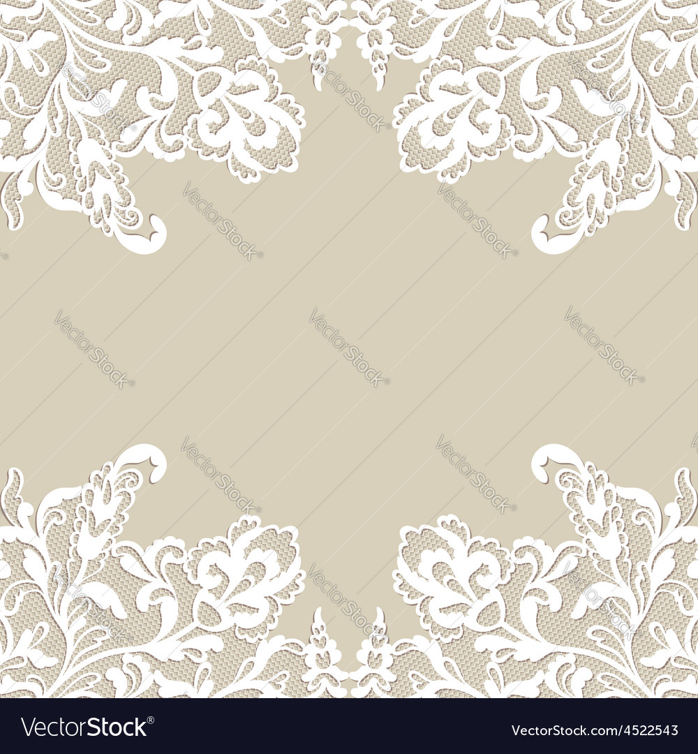 White flower frame vector image