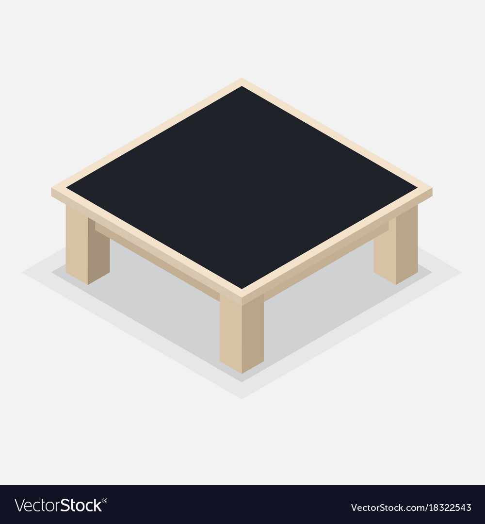 Wooden coffee table - isometric