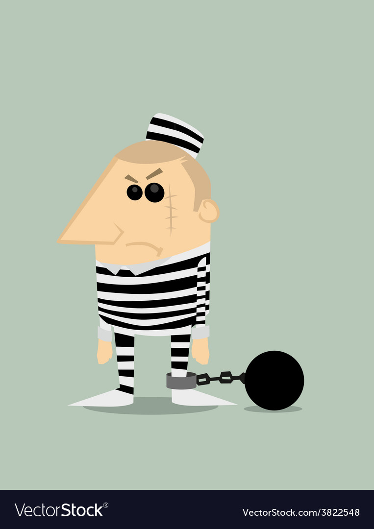 Cartoon prisoner vector image