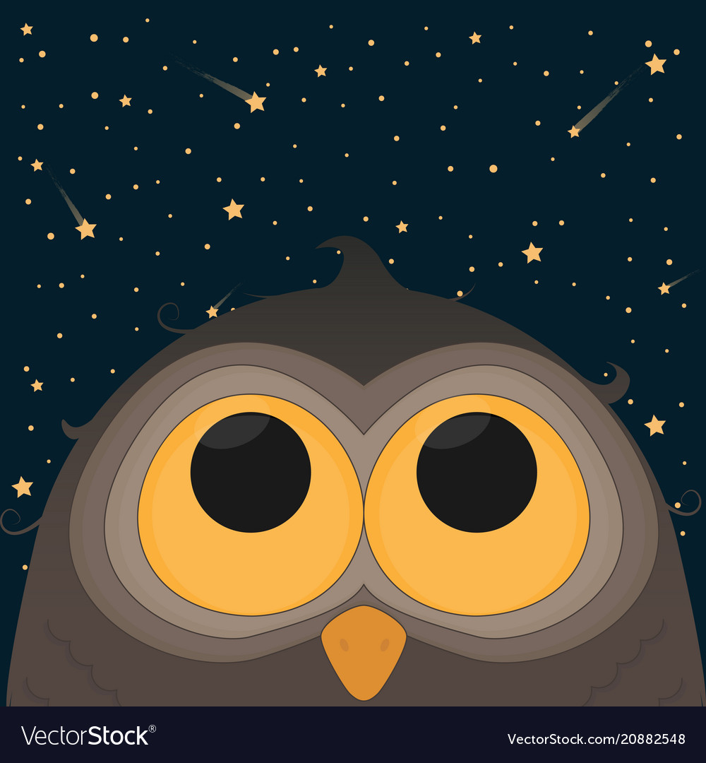 Cute Owl Good Night Concept Royalty Free Vector Image