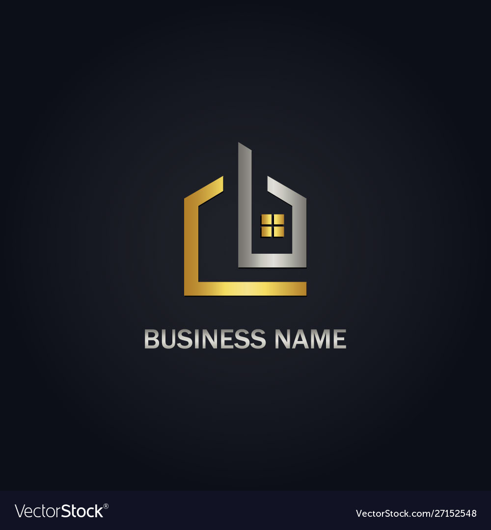 Home design window realty gold logo