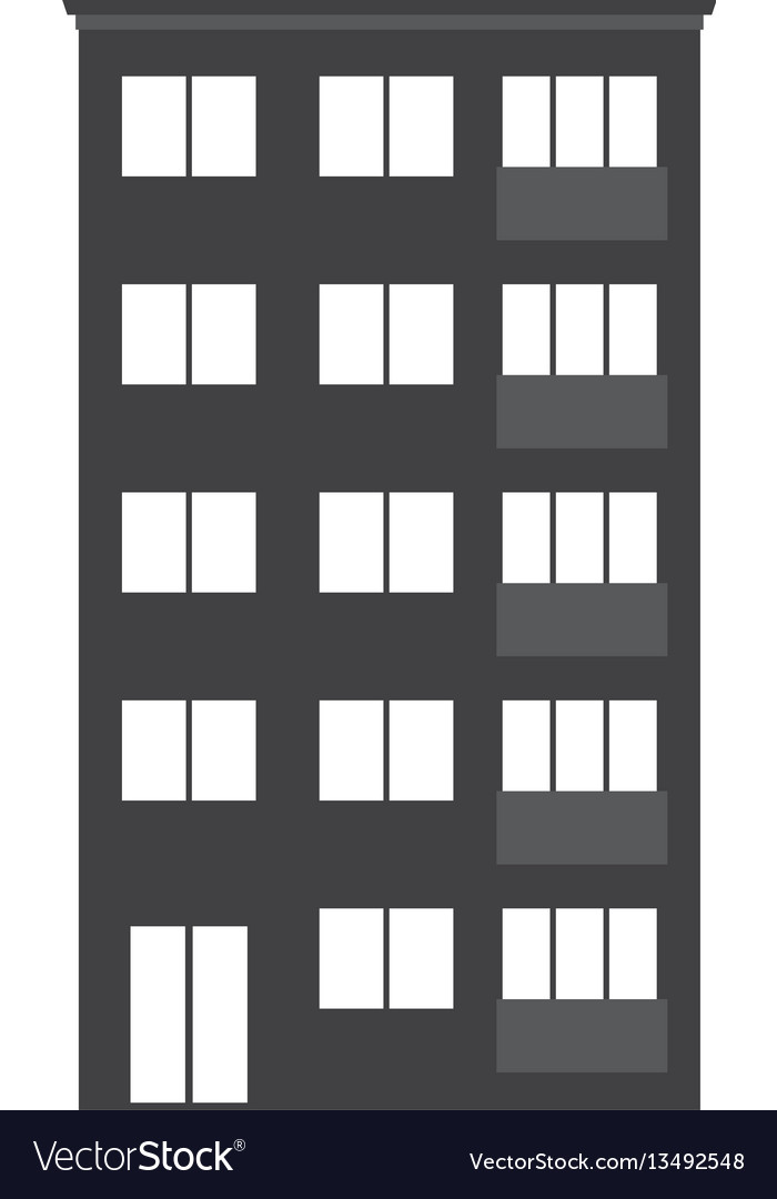 Modern multistory house icon