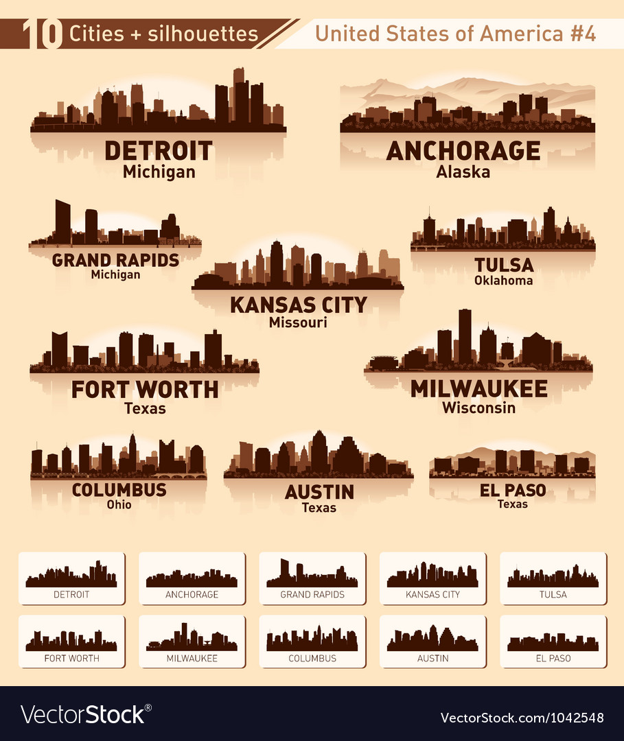 Skyline city set 10 cities of USA 4