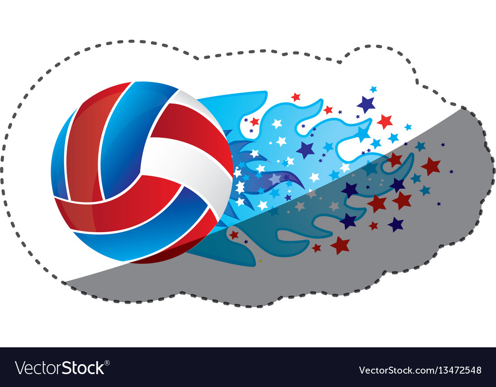 Sticker colorful olympic flame with stars and vector image