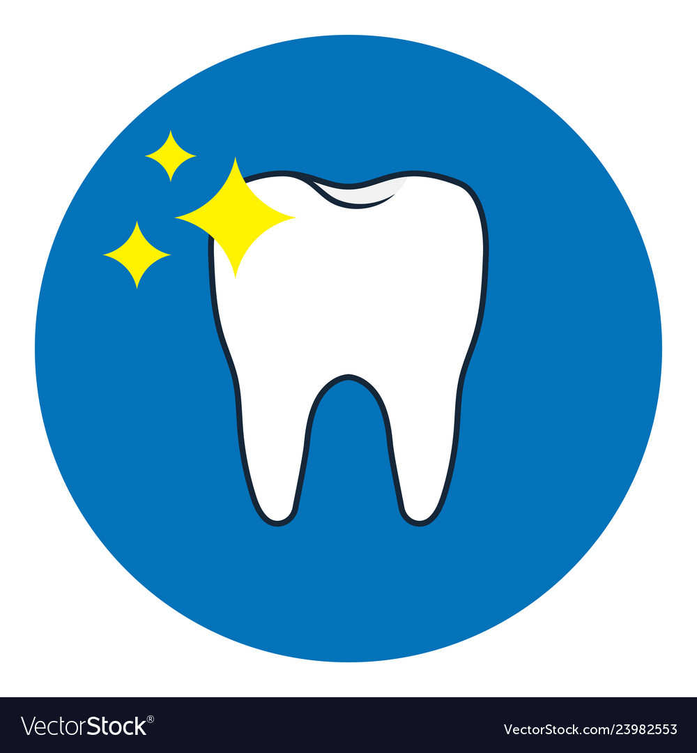 Brilliant tooth icon oral dental hygiene