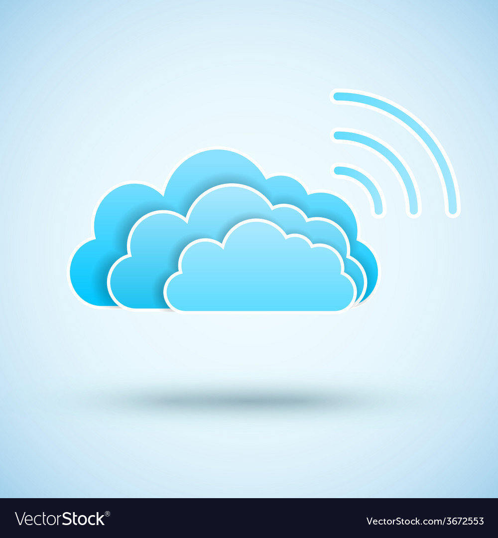 Cloud with Wifi symbol