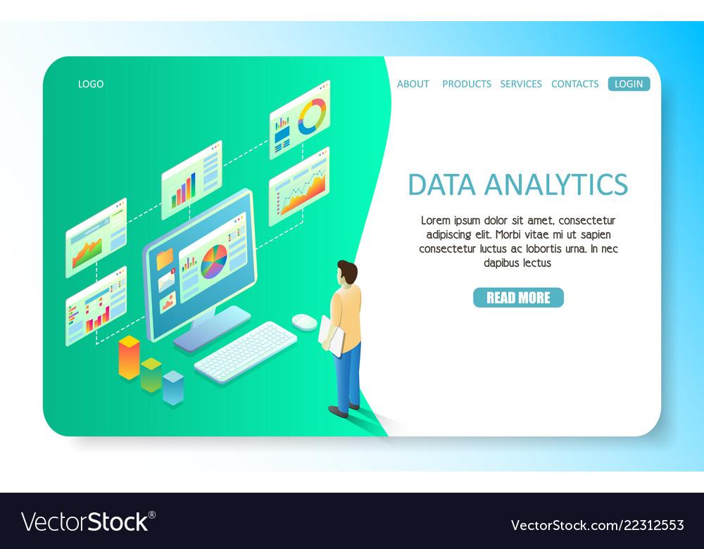 Data analytics landing page website