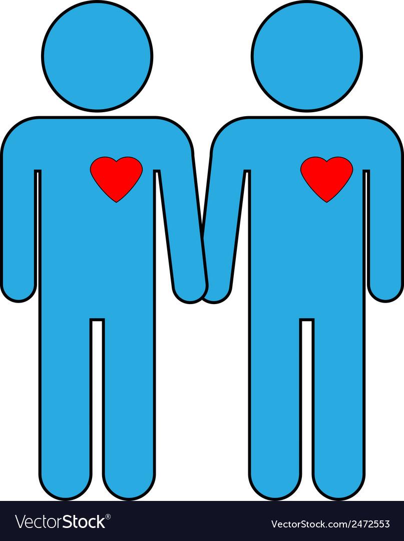 Gay couple symbol