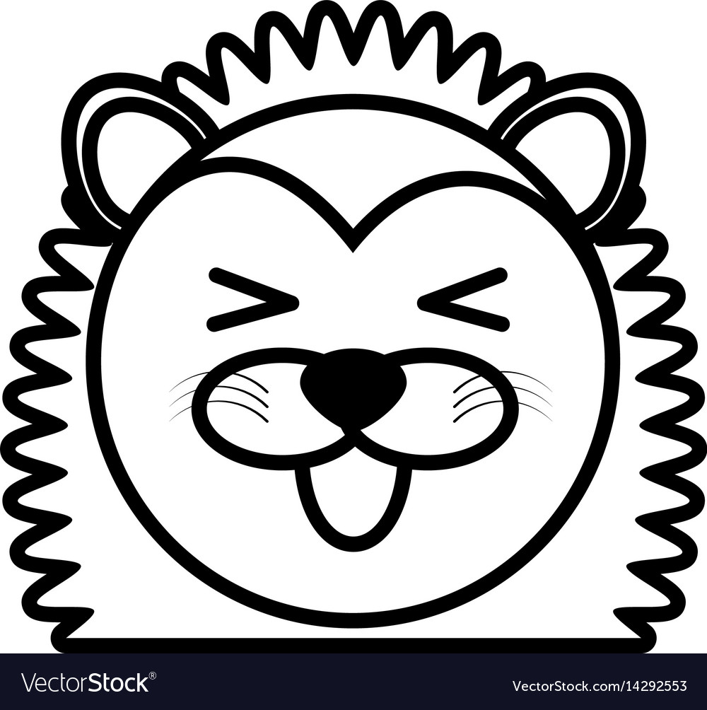 Outline porcupine head animal vector image