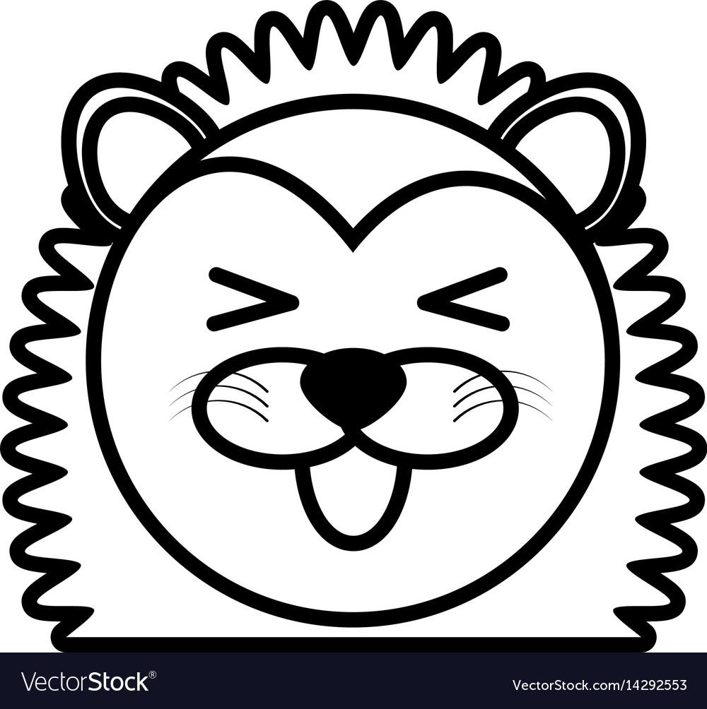 Outline porcupine head animal