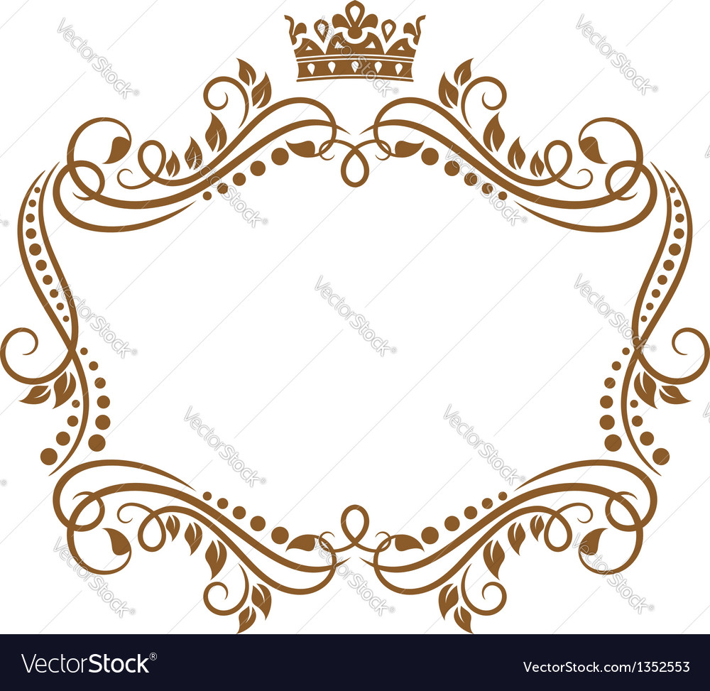 retro frame with royal crown and flowers vector image free clip art crown silhouette free clip art crowns and tiaras
