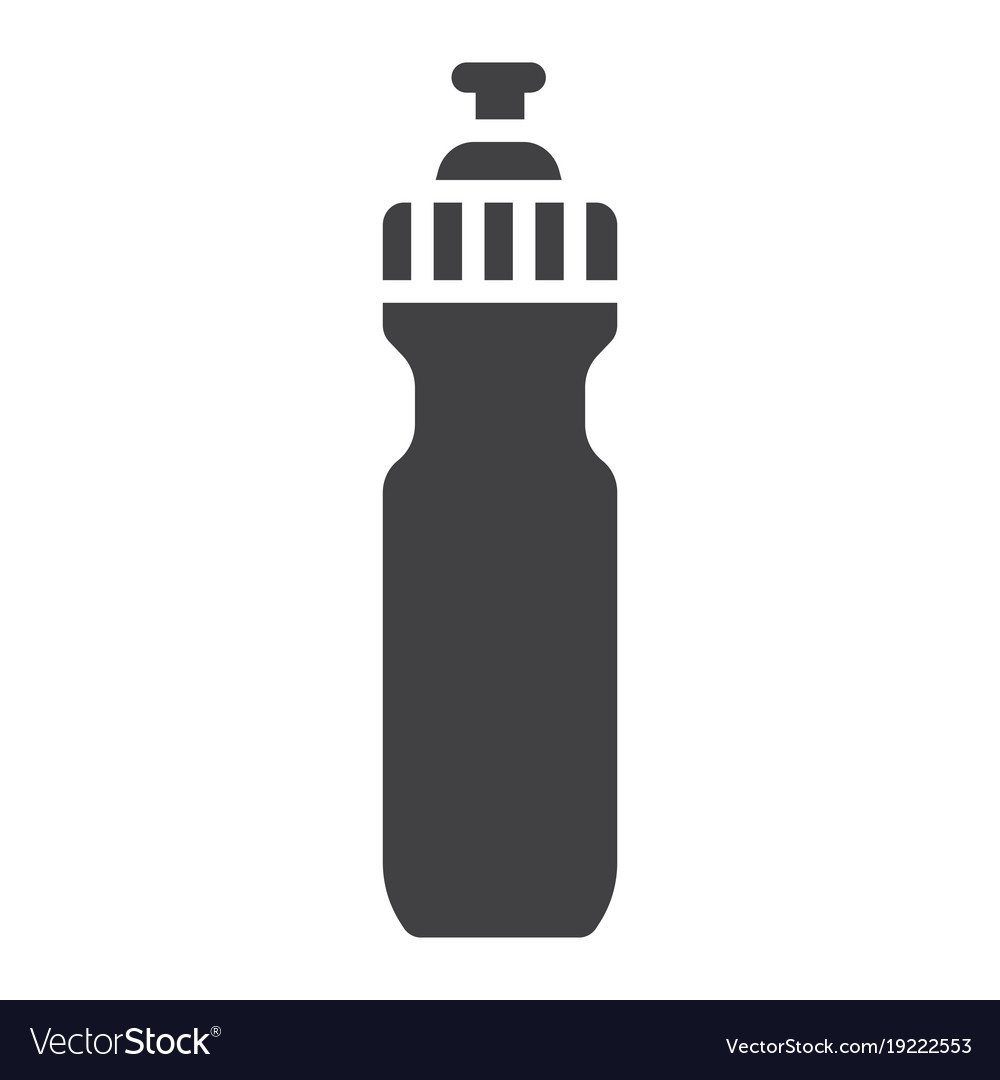 Sports water bottle glyph icon fitness and sport