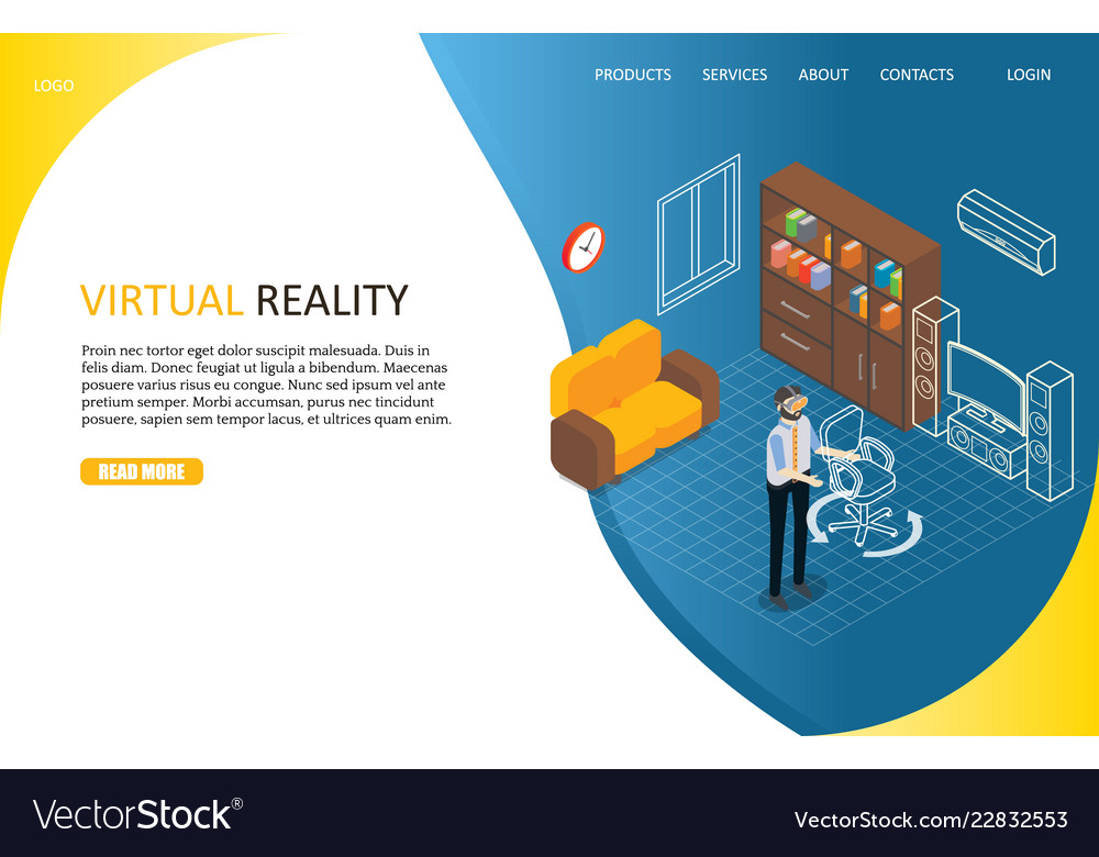 Virtual reality landing page website
