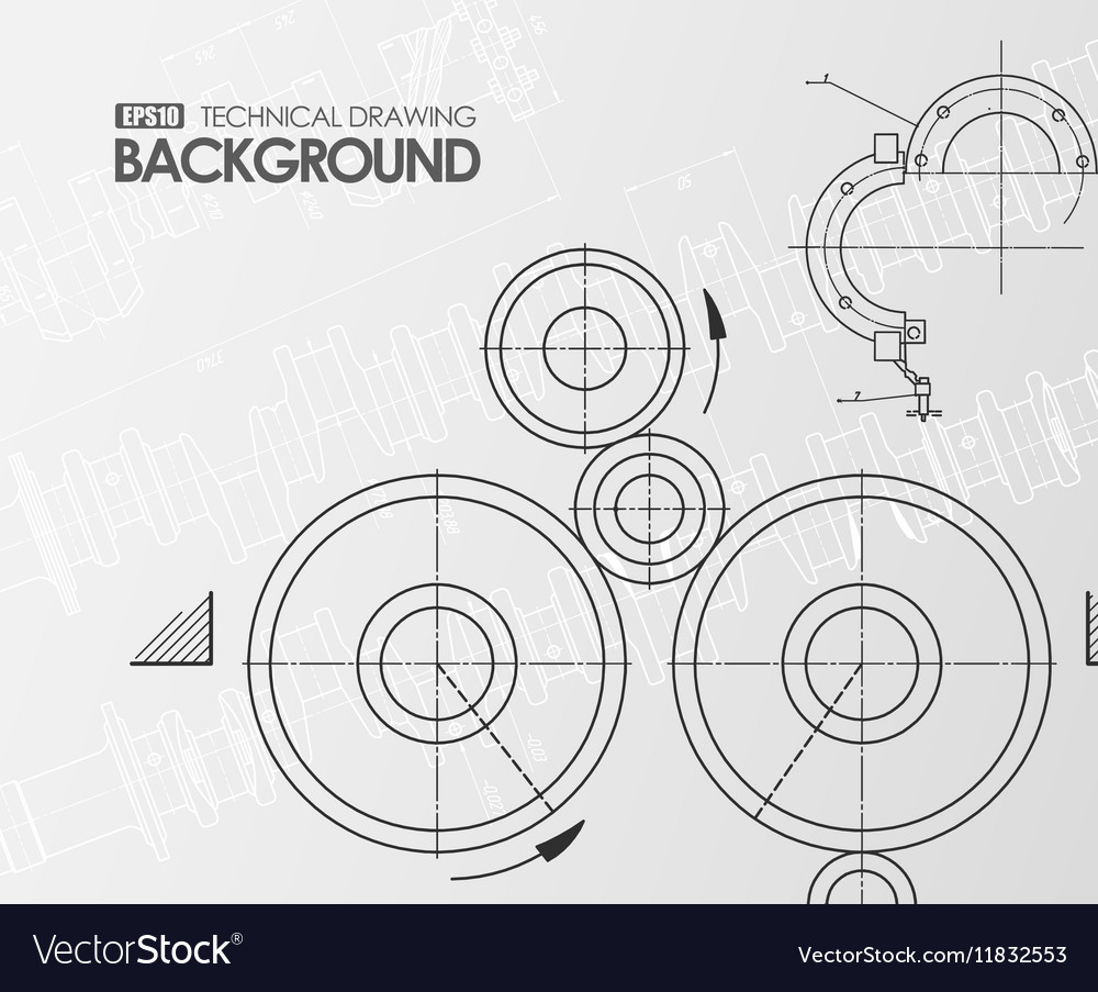 White background with technical drawings
