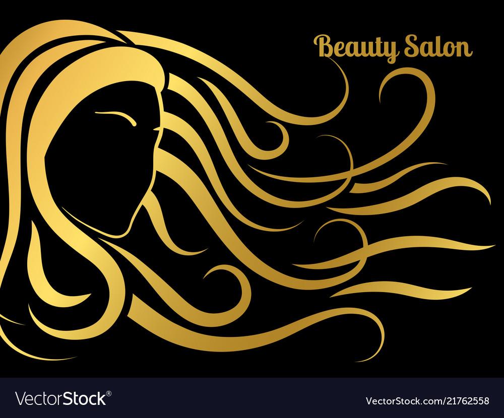 Beauty Salon Poster Royalty Free Vector Image Vectorstock