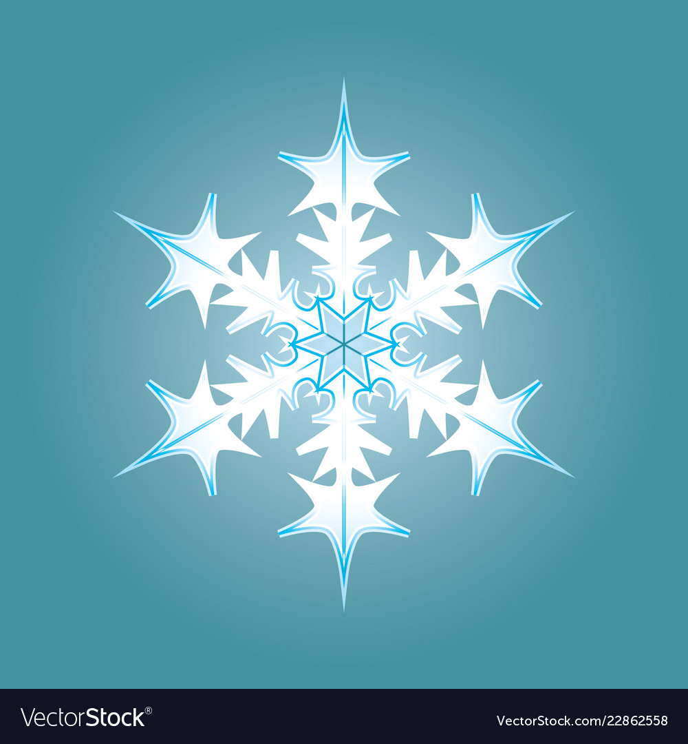 Blue-white snowflake