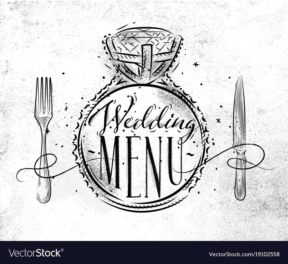Wedding menu crumpled
