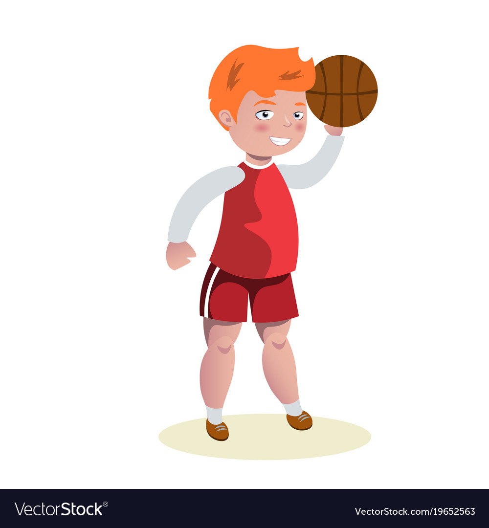 Basketball player in uniform with ball