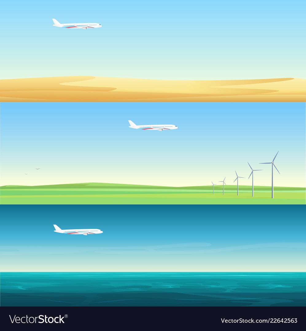 Beautiful minimalistic horizontal banners
