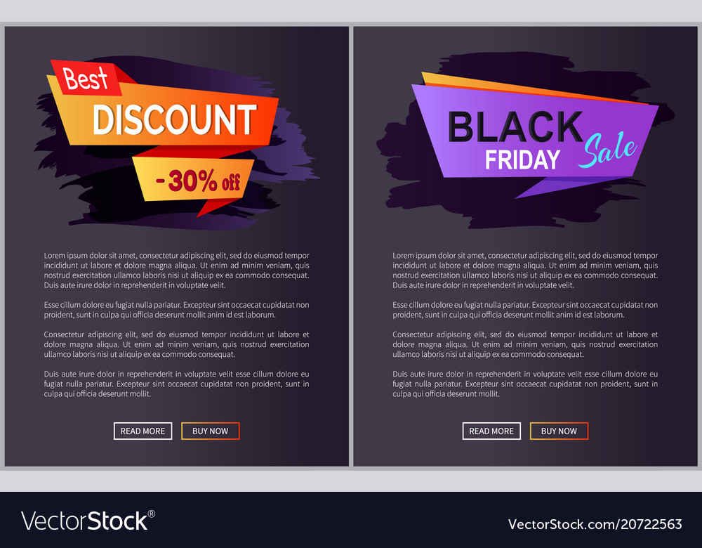 Black friday sale and discount