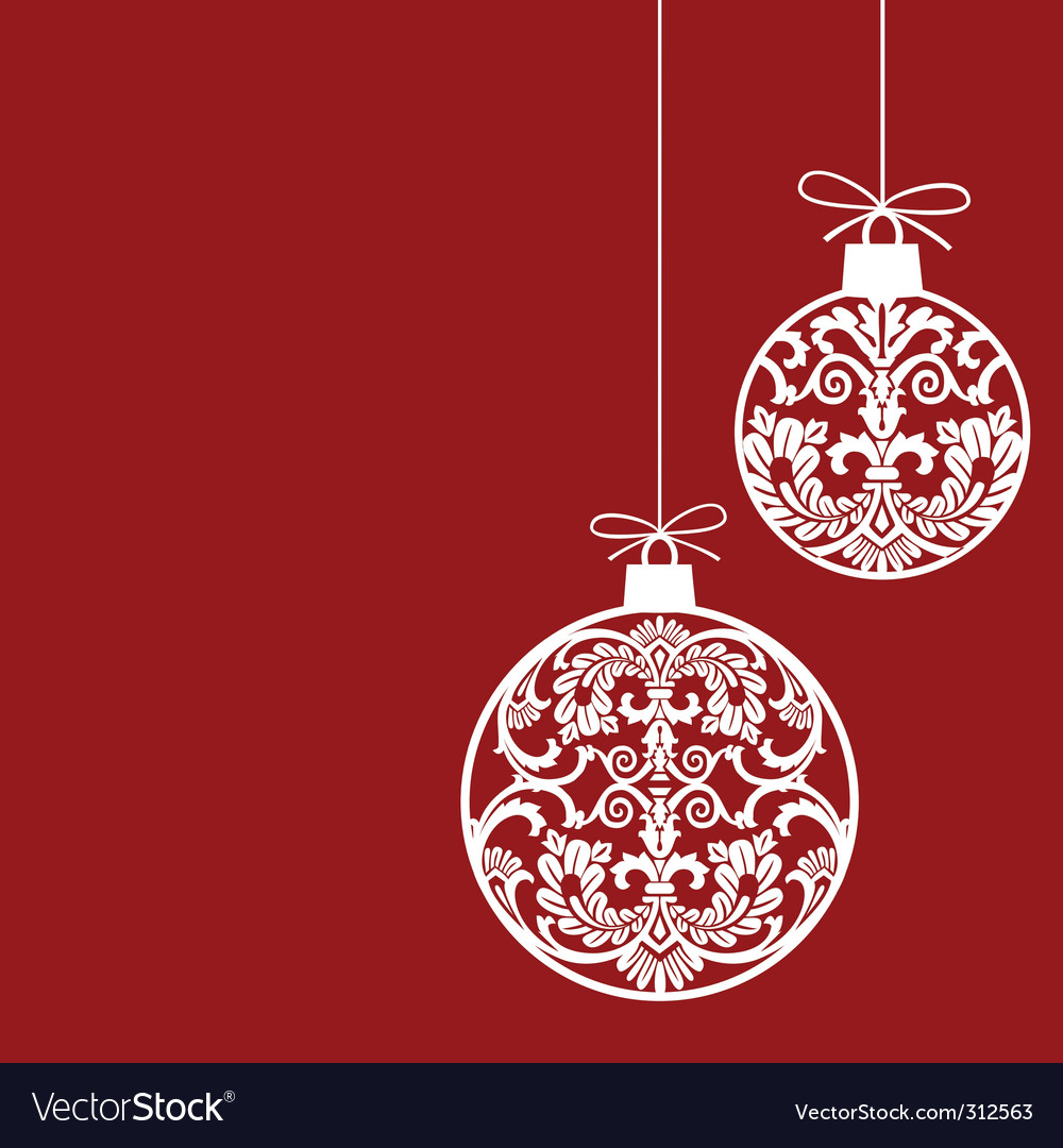 Christmas ornaments Royalty Free Vector Image - VectorStock
