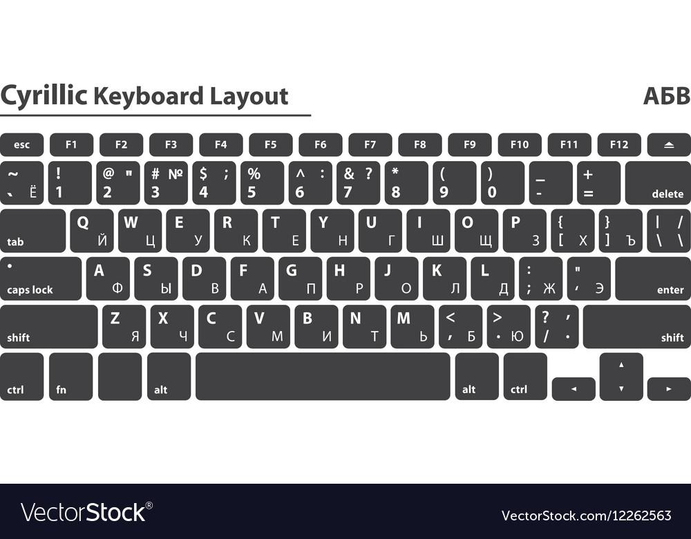 Cyrillic alphabet keyboard layout set - Isolated