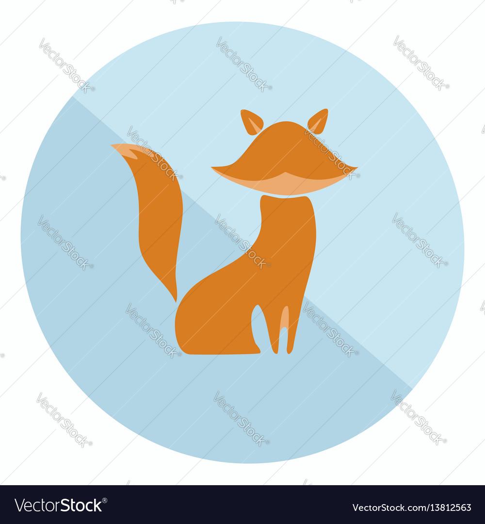 Flat fox icon vector image