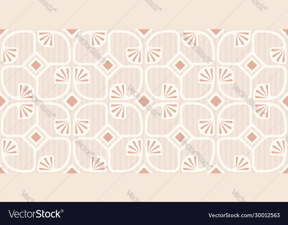 Pattern with abstract geometric plants