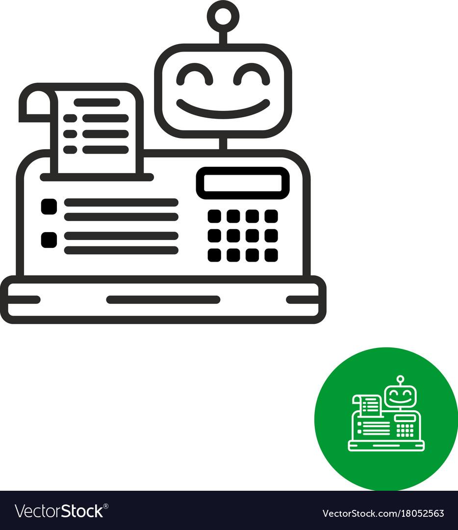 Robotic cash register icon