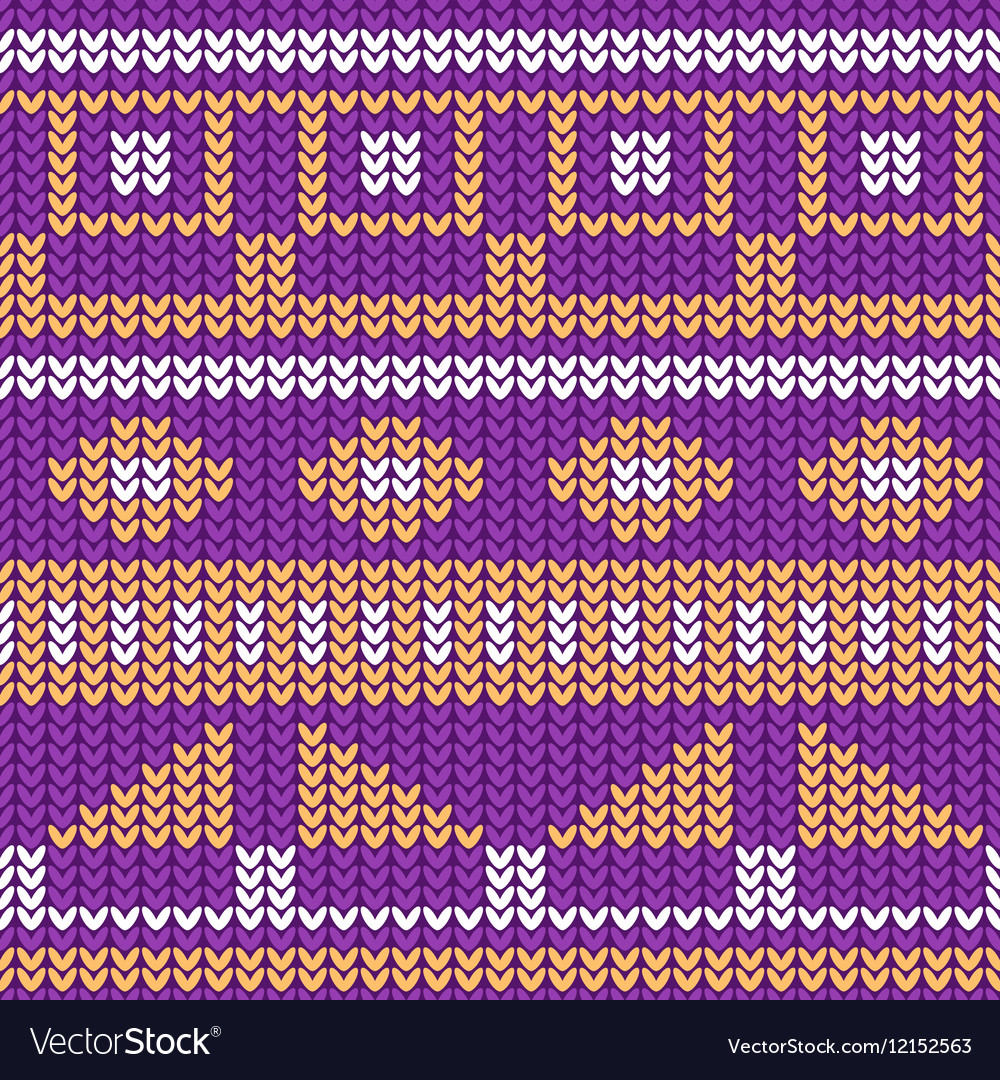 seamless knitted pattern christmas sweater design vector image