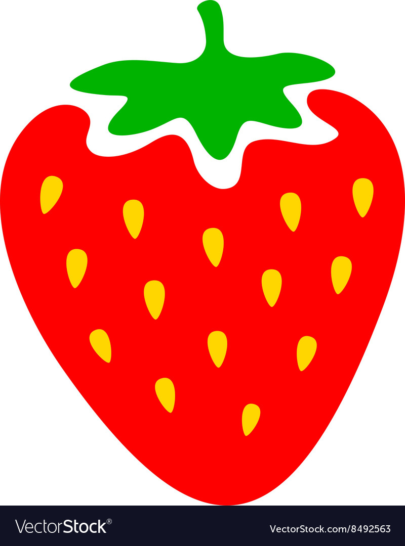 Strawberry colorful logo Strawberry cartoon style