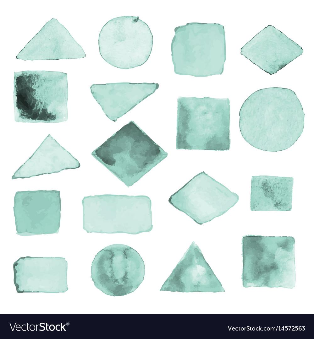 Watercolor geometric design elements1