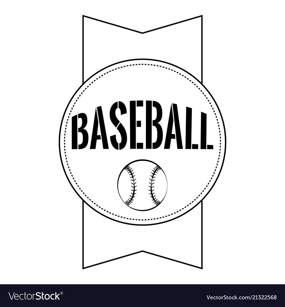 Abstract baseball label